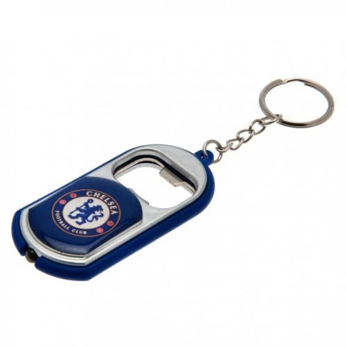 chelsea fc bottle opener keyring with torch cfc merchandise gifts. Black Bedroom Furniture Sets. Home Design Ideas