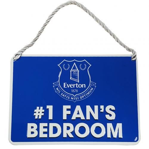 Everton FC Number 1 Fan Bedroom Sign | EFC Merchandise | Gifts Shop