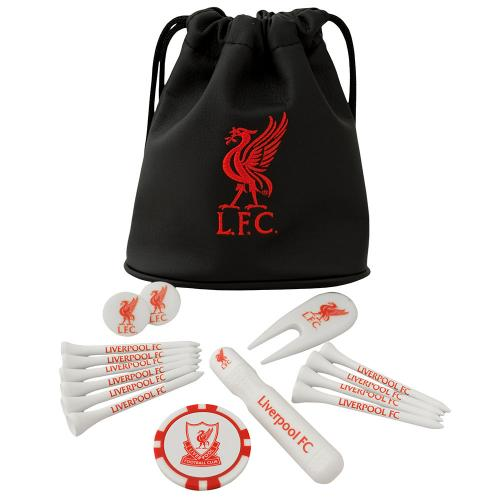 Liverpool FC Tote Bag Golf Gift Set | LFC Merchandise [ Football Gifts Shop ]