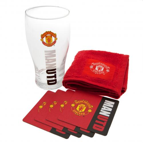 Manchester United Mini Bar Set | MUFC Merchandise [ Football Gifts Shop ]