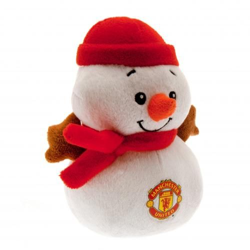 Baby Gift Baskets Liverpool : Manchester united snowman man cuddly toy