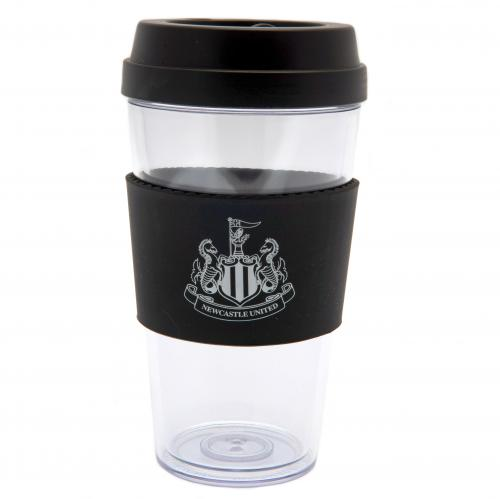 Newcastle United Clear Plastic Travel Mug | NUFC Merchandise [ Football Gifts Shop ]