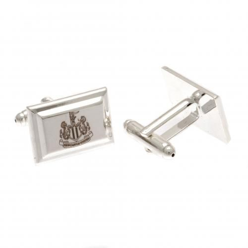 Newcastle United Cufflinks - Silver Plated | NUFC Merchandise | Football Gifts