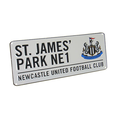 Newcastle United Metal Street Sign | NUFC Merchandise [ Football Gifts Shop ]