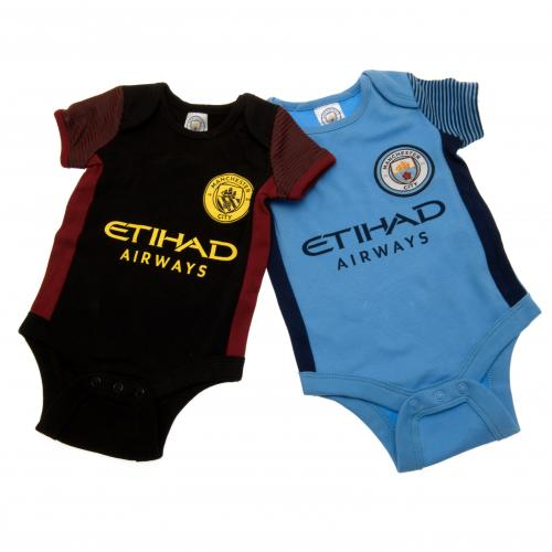 Manchester City Baby Clothes available now while stock lasts! Every new baby needs a range of basic clothes such as bodysuits and sleepsuits. You can choose to shop for white, blue or pink but why not consider something a bit different and kit your infant out in football baby clothes.